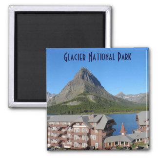 Many Glacier Hotel- Glacier National Park Square Magnet