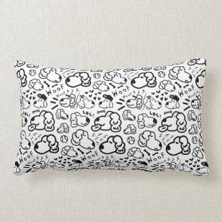 Many Golden Retrievers Pattern Lumbar Cushion