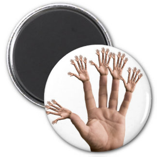 Many Hands 6 Cm Round Magnet