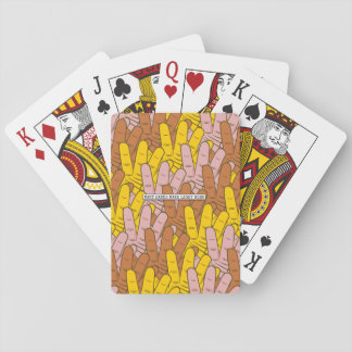 Many Hands Make Light Work Pattern Playing Cards