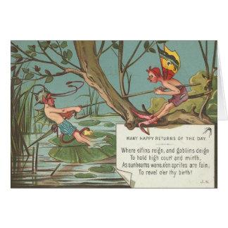 'Many Happy Returns' Greeting Card