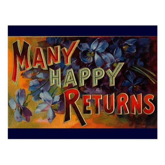 Many Happy Returns Postcard