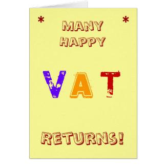 Many Happy VAT Returns! Funny VAT Card