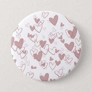 Many Hearts Large Round Badge (7,6 cm)