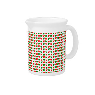many hearts(red,green) beverage pitchers