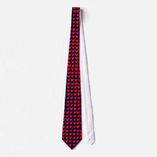 many hearts (red) tie