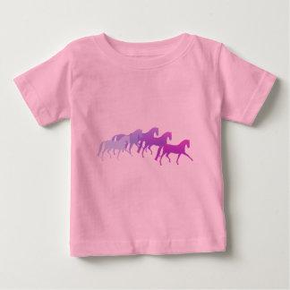 Many Horses (purples) Baby T-Shirt