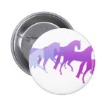 Many Horses (purples) Pinback Buttons