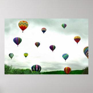 Many Hot Air Balloons Poster