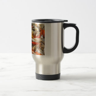 Many koi carp multicolor mug