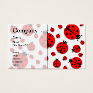 Many Ladybugs Shadows Business Card