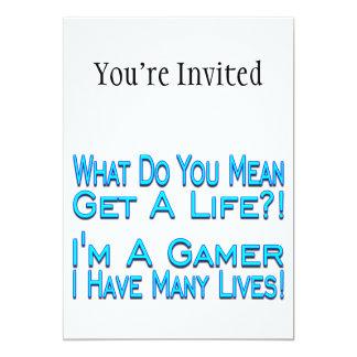 Many Lives Gamer 13 Cm X 18 Cm Invitation Card