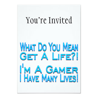 Many Lives Gamer Personalized Invitation