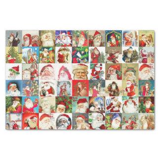 Many Many Vintage Santa Claus Tissue Paper