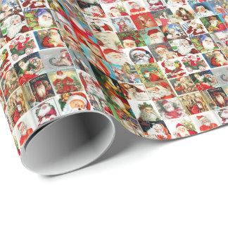 Many Many Vintage Santas Gift Wrapping Paper
