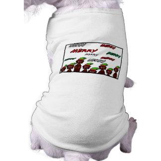 Many Merry Dachshunds Christmas Pet Sweater Sleeveless Dog Shirt