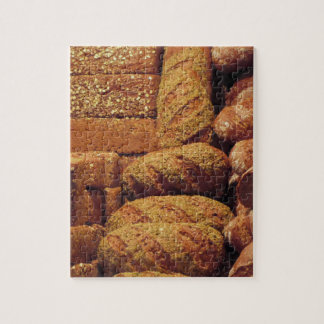 Many mixed breads and rolls background jigsaw puzzle