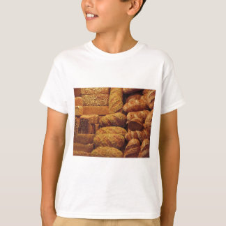 Many mixed breads and rolls background T-Shirt