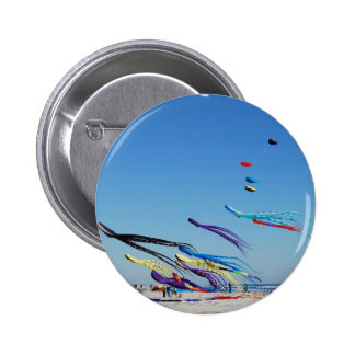 Many Multi Color Kites 6 Cm Round Badge