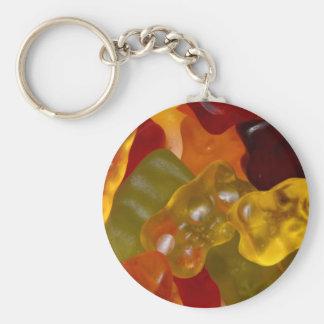 Many multicolored Gummibärchen Keychain