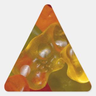 Many multicolored Gummibärchen Triangle Sticker