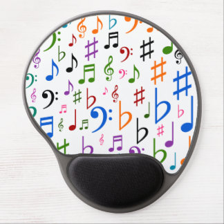 Many Musical Notes and Symbols Gel Mouse Mat