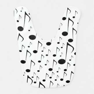 Many Musical Notes Bib