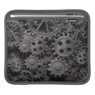 Many old rusty metal gears or machine parts iPad sleeve