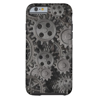 Many old rusty metal gears or machine parts tough iPhone 6 case