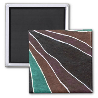 """Many Paths"" Abstract Art Magnet"