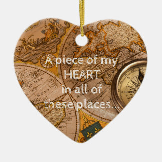Many Places...all of them have my heart Christmas Ornament