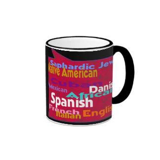 Many races.One world. Ringer Mug