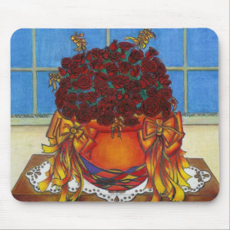 many roses mouse pad
