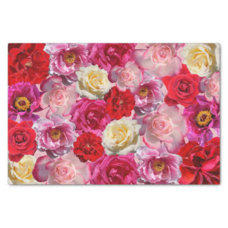 many roses tissue paper