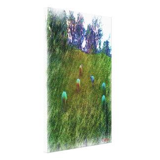 Many Sheep nature Canvas Print