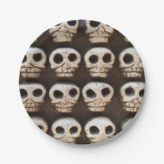 Many Skulls DOD Party Paper Plates