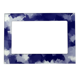 many small light and dark blue checks magnetic picture frame