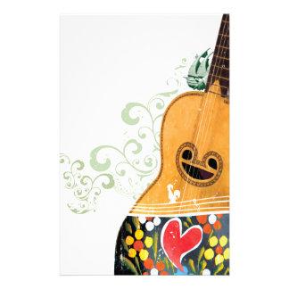 Many Symbols of Portugal - Portuguese Guitar Customized Stationery