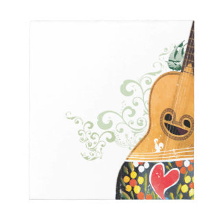 Many Symbols of Portugal - Portuguese Guitar Notepad
