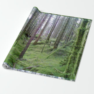 Many trees in the forest wrapping paper