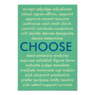 Many Ways to Choose Poster