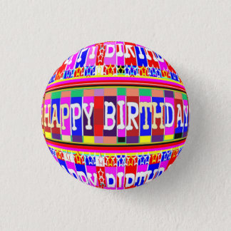 MANY ways to say HAPPY Birthday 3 Cm Round Badge