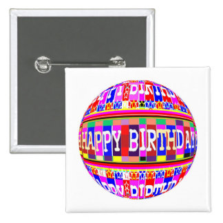 MANY ways to say HAPPY Birthday: by Naveen 15 Cm Square Badge