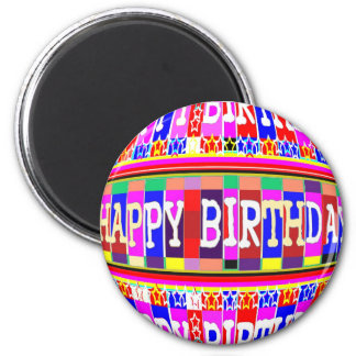MANY ways to say HAPPY Birthday: by Naveen 6 Cm Round Magnet