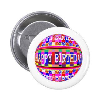 MANY ways to say HAPPY Birthday: by Naveen 6 Cm Round Badge