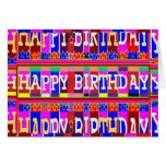 MANY ways to say HAPPY Birthday: by Naveen Greeting Card