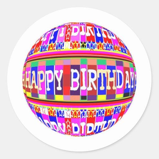 MANY ways to say HAPPY Birthday: by Naveen Round Sticker