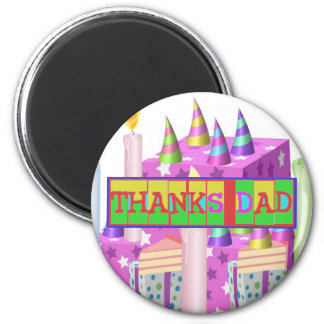 """Many ways to say """"Thanks Dad"""": by Naveen 6 Cm Round Magnet"""