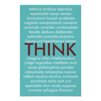 Many ways to think poster