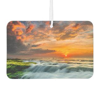 Manyar Beach At Sunrise Car Air Freshener
